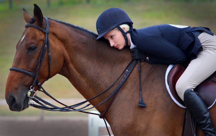 Zoe and horse love