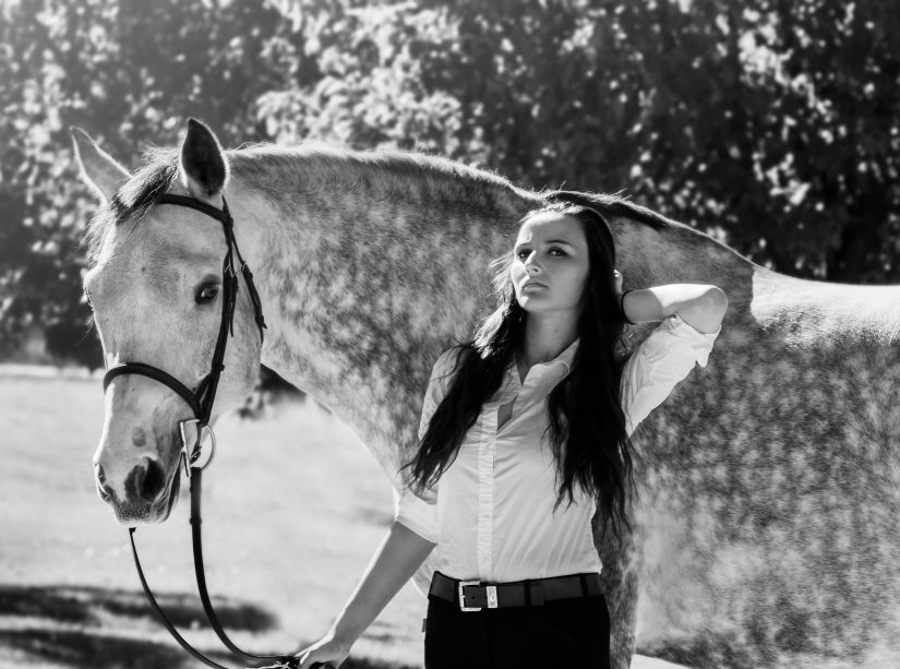 BW re edit of ila and horse