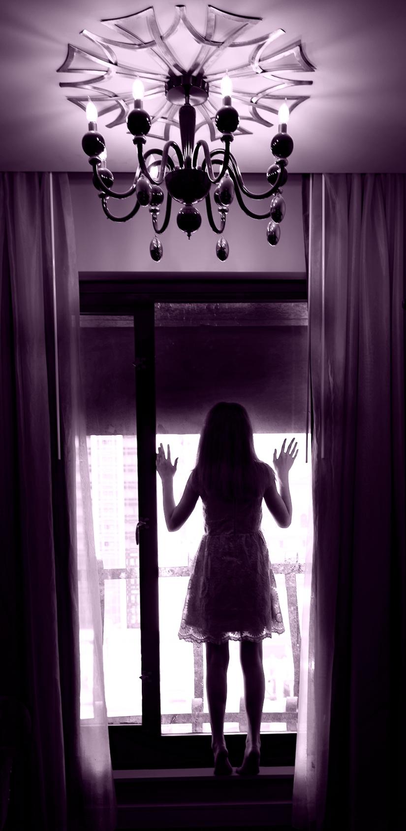 Molly in window